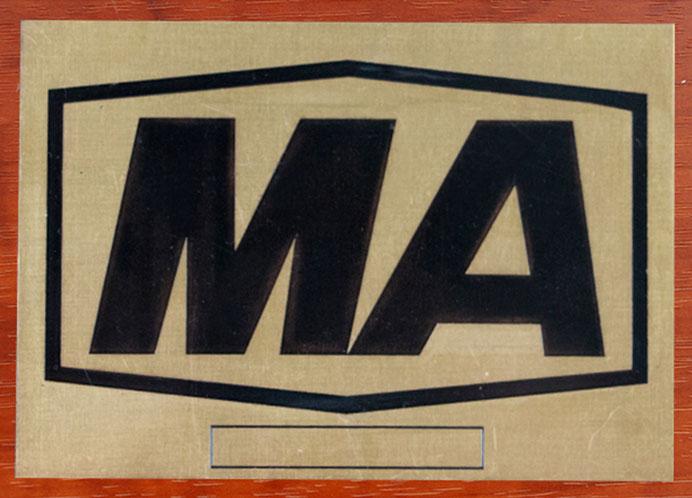 不锈钢MA标志牌